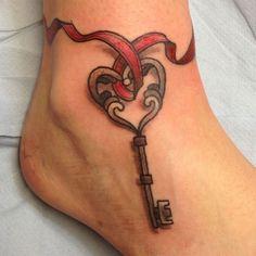 30 Awesome Key Tattoo Designs