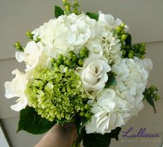 Hydrangea green and white bouquet