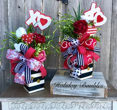 Valentines Day Arrangements by Holiday Baubles