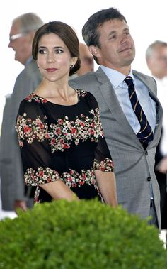 Crown Prince Frederik and Crown Princess Mary attends a reception on the occasion of Prince Henrik's 80th birthday in the Orangery at Fredensborg Castle, 02.06.2014