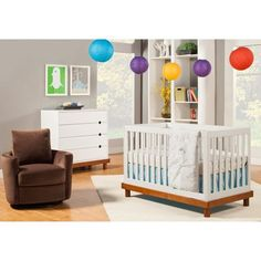 Baby Mod - Olivia 3-in-1 Baby Crib, Amber and White  (similar to other cribs I have liked but much cheaper - $250 from Walmart)
