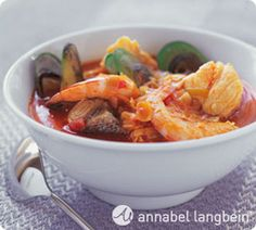 Bouillabaisse. This special soup is great for a weekend dinner or when you have been lucky with your fishing line. http://www.annabel-langbein.com/