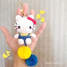 Hi  Code: Kitty go to school Bagcharm ( day light photo ) - Ready stock - Handmade crochet 100% cotton Come with box wrapping for gift/keeping For price and order : Line: @qpm0527e ( pake @ ) / WA 0822.8812.1985…