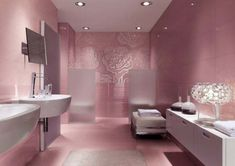 Get the most unique bathroom design in the world tips and advice here for free. Offers a source on bathroom interior design topics and guide. Feminine Bathroom, Beautiful Bathroom Designs, Modern Bathroom Design, Girl Bathroom Decor, Bathroom Tile Designs, Bathroom Design Luxury, Pink Bathroom, Pink Bathroom Decor, Bathroom Design
