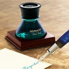 Happy #NationalWritingDay to all of our fellow pen & ink lovers! Celebrate your unique handwriting with new colorful ink! Levenger Bottled Ink is what fountain pen ink should be: smooth & rich, designed to last, formulated to delight & resist fading.  Shop all Levenger inks: www.PenRefill.com Graf Von Faber Castell, Pen Refills, Dip Pen, Fountain Pen Ink, All Things Purple, Pen And Paper, Writing Instruments, Wax Seals, Hand Lettering