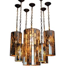 Mirrored chandeliers