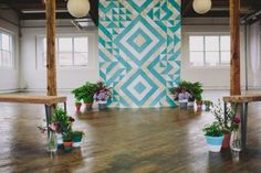Geometric Wedding Backdrop Inspiration
