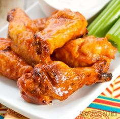 Smoked Buffalo Chicken Wings | From: sweetpeaskitchen.com