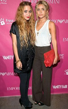 Mary-Kate and Ashley Olsen. Love them both equally