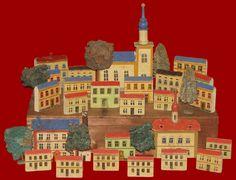 erzebirge toy houses - shelf sitter - village