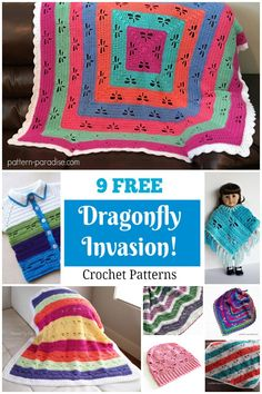 9 Free Dragonfly Crochet Patterns on Pattern-Paradise.com