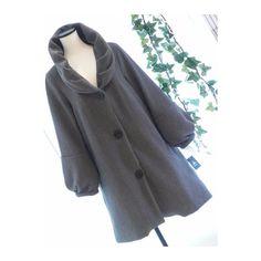 メルカリ商品: 【新品】0527【L】上品ふんわり襟袖 上質ポンチ地コート グレー #メルカリ