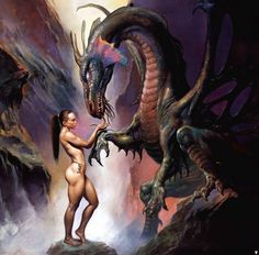 Boris Vallejo e Julie Bell mestres do desenho e da pintura Fantasy Anime, Fantasy Kunst, Fantasy Dragon, Fantasy Warrior, Dark Fantasy, Julie Bell, Boris Vallejo, Fantasy Artwork, Art Visionnaire