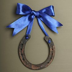 Great idea - think I will hang my former Racehorse's shoe from a piece of Hermes ribbon & place with his winners circle photos