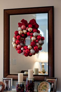 Super easy craft that I tackled last Christmas -- may try another one in wintry colors...