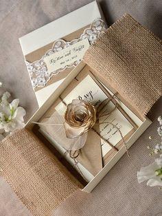 Invitación rustica, boda rustica