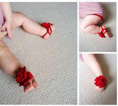 DIY barefoot sandle...I think these are so cute for baby girls!!!