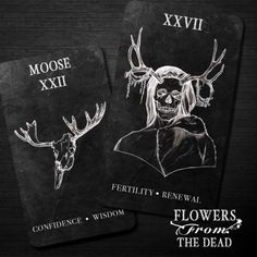 The Flowers From The Dead divination deck was created by Seattle artist Misha Huntting
