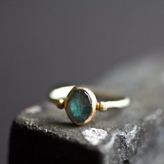 Labradorite Mixed Metals Ring