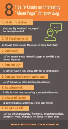 """Fabulous Blogging - Google+ - 8 Superb Tips To Create An Interesting """"About Page"""" For…"""