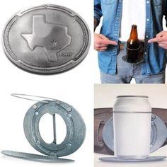 Drink Holder, Bottle Holders, Cool Belt Buckles, Travel Cosmetic Bags, Monogram Initials, Makeup Cosmetics, Beverages, Beer, Map