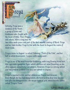 Goddess Freya page 1 - LaPulia Book of Shadows Norse Goddess, Norse Pagan, Goddess Of Love, Freya Norse Mythology, Pagan Gods, Goddess Art, Soft Words, Eslava, Witchcraft Supplies
