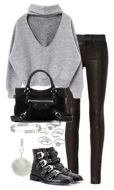 """""""Untitled #2861"""" by theeuropeancloset on Polyvore featuring rag & bone, Givenchy, Balenciaga, Candie's, Miss Selfridge and Cartier"""