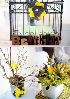 bird themed centerpieces