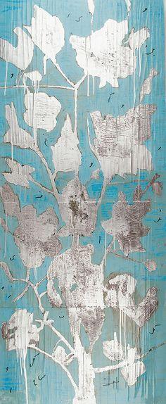 Reza Derakshani  untitled. mixed media on canvas.220x90cm.
