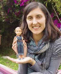 Sonia Singh and her tree change doll. treechangedolls.com.au