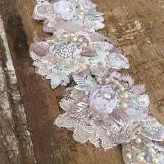 Lace appliqués, soft lavender shades #lace #appliqué #wedd… | Flickr