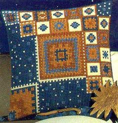 This Pin was discovered by Lyn Cross Stitch Designs, Cross Stitch Patterns, Cushion Cover Pattern, Palestinian Embroidery, Cross Stitch Pillow, Needlepoint Pillows, Tapestry Design, Tapestry Crochet, Bargello