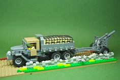 Lego Military, Military Vehicles, Lego Soldiers, Lego Vehicles, Lego Models, Lego Projects, Dump Truck, Cool Lego, World History
