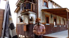 """Tiny Texas Houses Presents: The August 2013 House Spotlights """"The Vesper Casa"""" (Part 3 of 3)  THE MAN, NOTE MAIN INTERIOR WALL'S CORNERS STRUCTURAL REINFORCEMENT TECHNIQUE..NICE FOR THAT EXTRA WITH SUCH LITTLE EFFORT....AND SO MUCH MORE, WELL JUST WATCH, IF HAVEN'T ALREADY"""