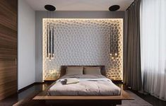 Marvelous Bedroom Design Ideas: Minimalist Bedroom Design, Purple Bedroom Interior Design, Beautiful Bedroom Design And Art Work, Beautiful artistic wall. Bedroom Interior Design Ideas around the world. Home improvements tips. Home Sweet Home Design UK Luxury Bedroom Design, Bedroom Bed Design, Home Bedroom, Bedroom Furniture, Bedroom Decor, Bedroom Lighting, Bedroom Designs, Bedroom Ideas, Bedroom Wall