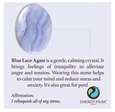 Blue Lace Agate stone, You will love Energy Muse's Blue Lace Agate stones. The Blue Lace Agate meaning and healing properties make it one of the premier healing stones and crystals for anxiety and stress relief.