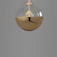 small globe led cap gold