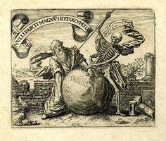 Mors nulli parcit  (La muerte a nadie perdona)  Ilustración de los hermanos De Bry's del libro  'Emblemata Saecularia' (Frankfurt). 1592  Grabado.