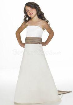 Flower Girl Dress (except with an orange sash?)
