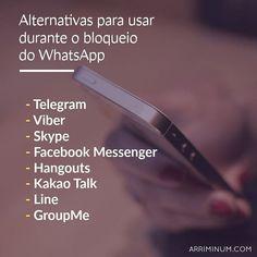 Confira algumas alternativas ao WhatsApp. #Dicas #WhatsApp #Arriminum
