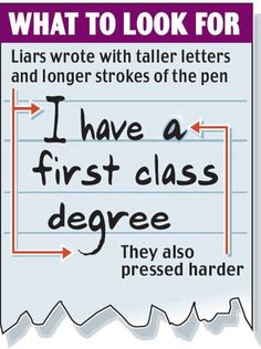 Yes, lie detection is possible from handwriting. Handwriting of those lying have certain strokes which an analyst can easily spot. Psychology Courses, Colleges For Psychology, Psychology Degree, Psychology Facts, Sending Condolences, Handwriting Examples, Fathers Day Songs, Improve Your Handwriting, Handwriting Analysis