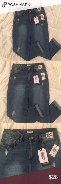 NWT KENSIE JEANS KENSIE HIGH ROLLER high waisted girlfriend jeans. Kensie Jeans Ankle & Cropped