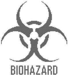 Biohazard Counted Cross Stitch Pattern PDF by robinsdesign on Etsy, $5.00