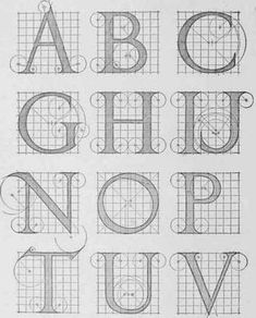 Alphabet of Classic Renaissance Letters according to Albrecht Durer, adapted and reconstructed by F. C. Brown.