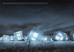 Winners of Landmark for Nuclear Waste Isolation Announced,View of the Coffins. Image Courtesy of Arch Out Loud
