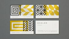 30+ Beautiful Examples of Modern Business Card Designs for Inspiration- Engler Studio