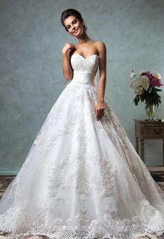 Prinsessen trouwjurk met kant mooie Sissi bruidsjurk op maat