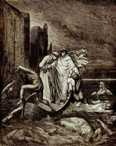 Top 10 Real Life People Condemned to Dante's Inferno - Filippo Argenti was a famous politician and a Black Guelph whom Dante encountered in the fifth circle of hell, where the wrathful bit, clawed and clashed with each other in the muddy waters of the river Styx.