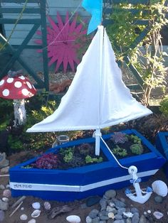 Home made boat planter