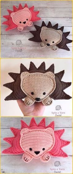 Original pattern Here: Crochet RagDoll Hedgehog Amigurumi Free Pattern Gato Crochet, Kawaii Crochet, Crochet Patterns Amigurumi, Crochet Dolls, Crochet Gifts, Crochet Yarn, Free Crochet, Simply Crochet, Diy 2018